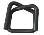 Пряжка проволочная стальная, черная для ленты 19 мм